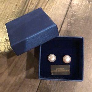 Bret Roberts Genuine Freshwater Pearls Studs New